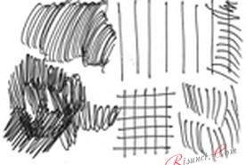 Штриховка карандашом