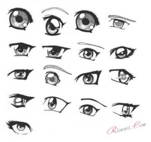 виды глаз аниме