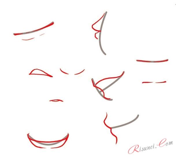 Аниме губы и рот