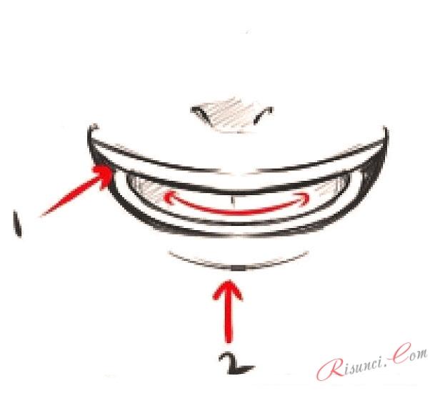 Рисовать аниме рот