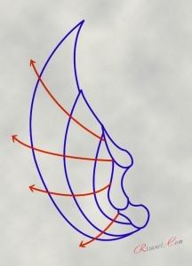 рисунок крыльев аниме