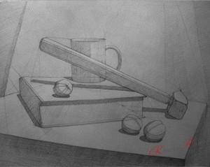 натюрморт из предметов быта