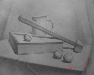 натюрморт из 5 предметов