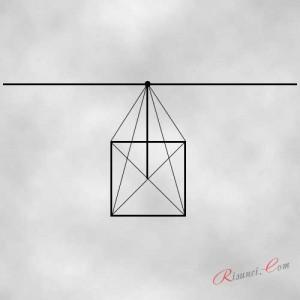 превращение квадрата в куб