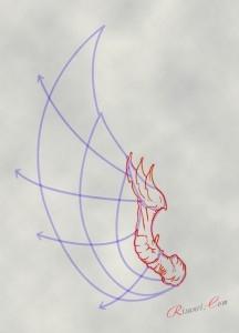 набросок крыла