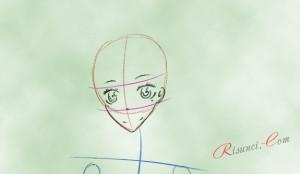 лицо аниме