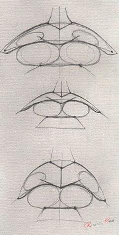 этап рисования губ