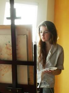 художник рисует