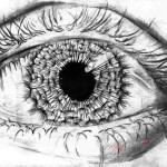 Глаз карандашом