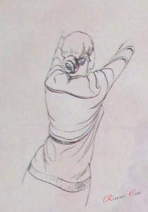 Рисование со спины
