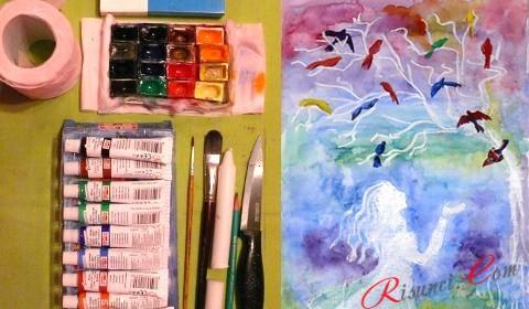 урок рисования гуашью