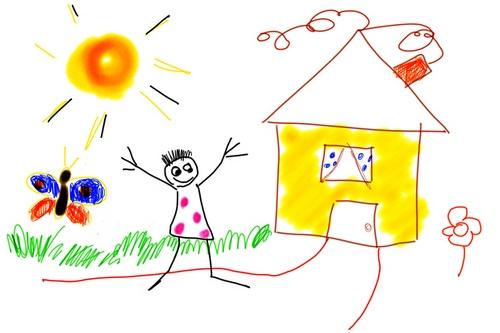 ребенок нарисовал картину