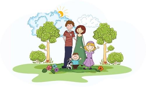 веселая семья