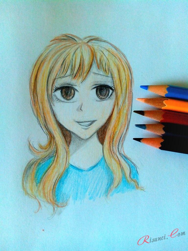 Девушка аниме готова