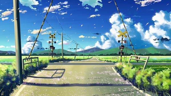 пейзажи в аниме