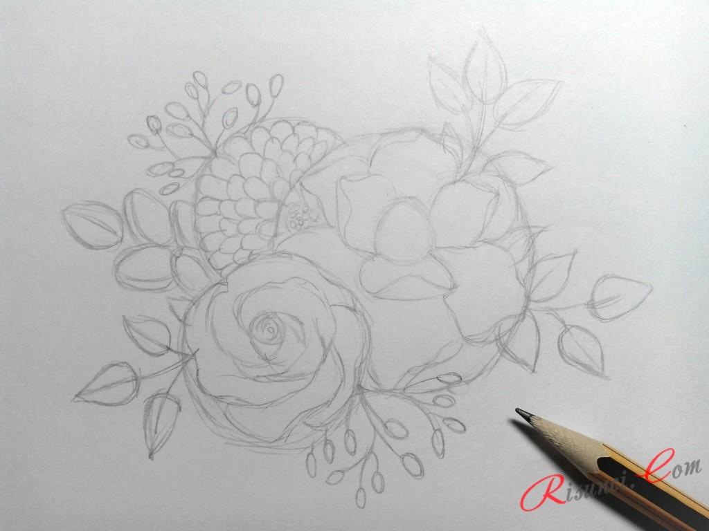 прорисуем ветки с листьями