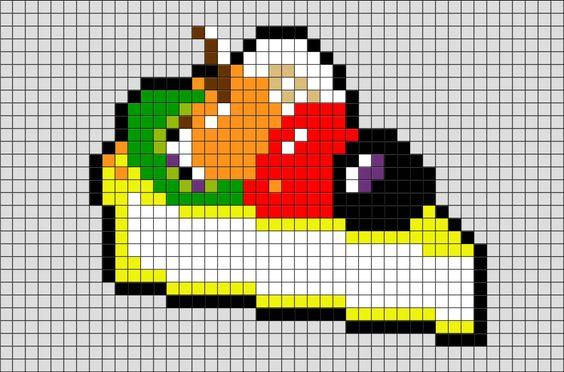 с чего начать рисунок по клеточка еда фото 2