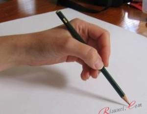 Широкий захват карандаша