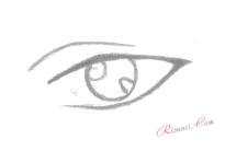 блики глаз аниме