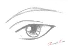 детали зрачка глаз