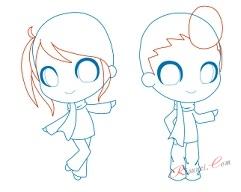 мальчик и девочка чиби