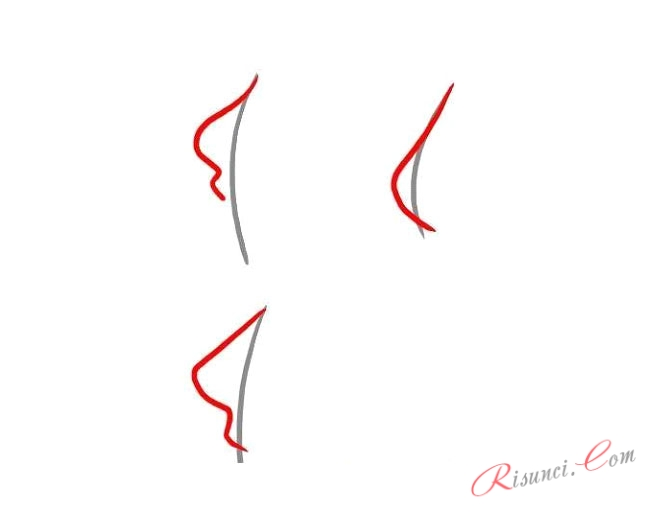 различные формы носа