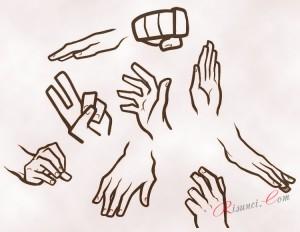 разные варианты рук
