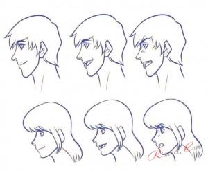 эмоции лица в профиль