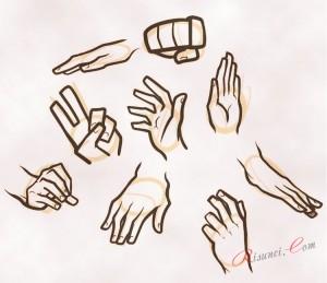 наброски рук
