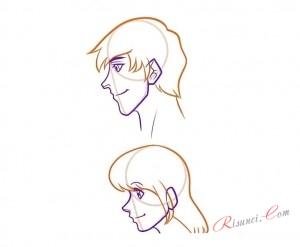 рисование волос для лица