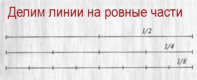 деление линий