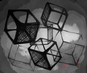 нарисованные кубики