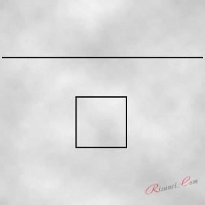 квадрат и линия горизонта