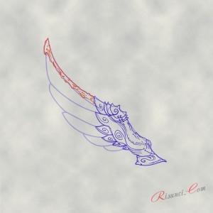 складки на крыльях