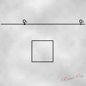 квадрат и точки схода