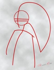 первоначальный рисунок тела