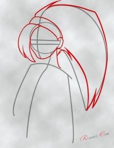 волосы и форма лица аниме