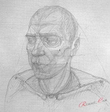 пример рисования шеи