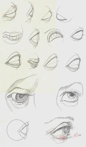 Способы построения форм глаз