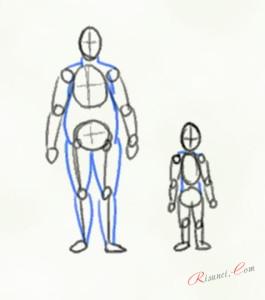 пухленький мужчина и ребенок