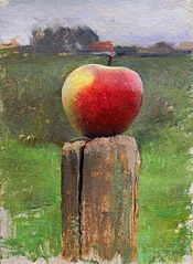 яблоко на пленэре
