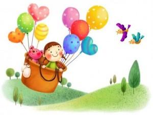 девочка на воздушном шаре