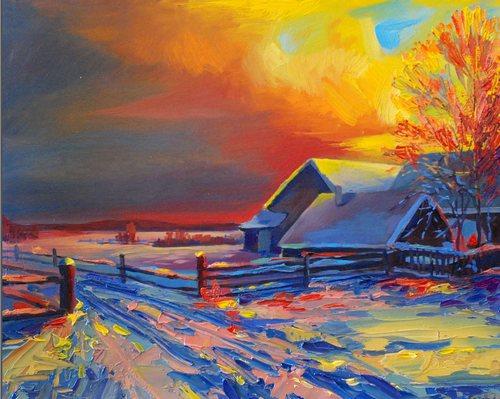 этюд зимой