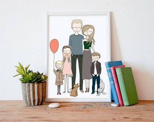 рисунок семьи в рамке