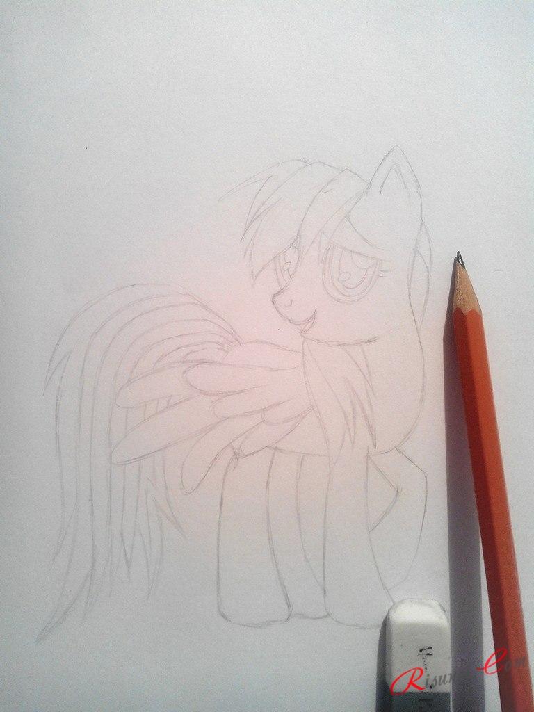 по бокам у пони будут крылья