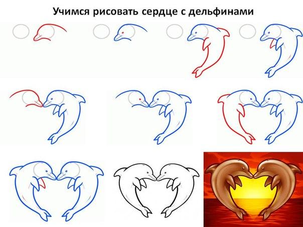 просто выполните следующие шаги по рисованию, чтобы нарисовать дельфина поэтапно для детей