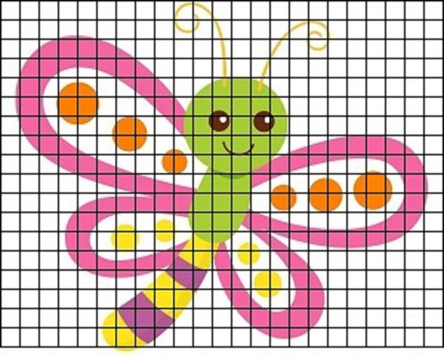 рисунки по клеточкам для девочек 12 лет фото 3