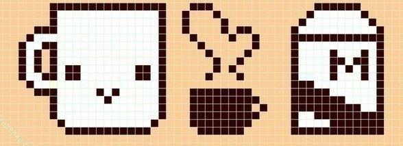рисунки по клеточкам для начинающих - пиксельное искусство фото 4