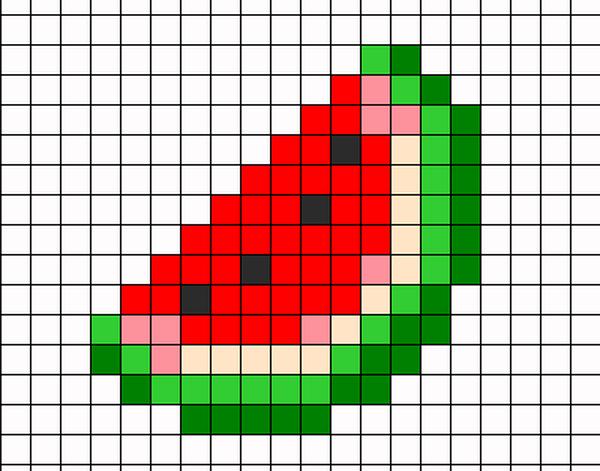 рисунки по клеточкам фрукты фото 4