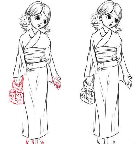 как нарисовать японку в кимоно по другому? Решение для учеников 4 класса на фото 5